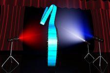 Free Blue Film Reel Stock Image - 9927861