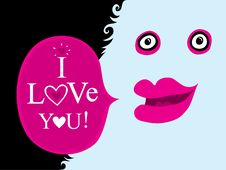 Free The Nice Character With Pink Lips Royalty Free Stock Photo - 9928045