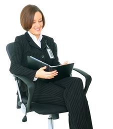 Free Successful Businesswoman Look At Her Agenda Stock Image - 9928181