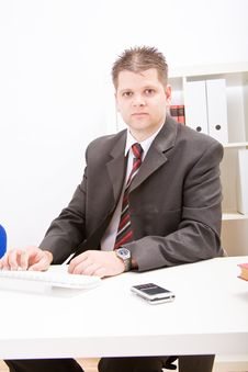 Free Business Man In Office Stock Photos - 9928743