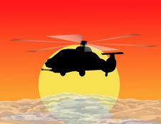 Free Armed Helicopter Royalty Free Stock Images - 9929069