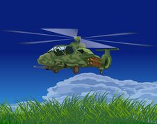 Free Armed Helicopters-illustration Royalty Free Stock Photography - 9929097