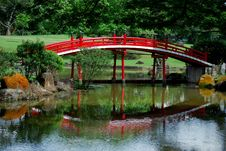 Singapore:  Japanese Garden Bridge Royalty Free Stock Photos