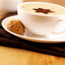 Free Coffee With Biscotto Royalty Free Stock Image - 9929786