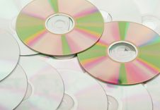 Free Background From The Compact Discs Stock Image - 9929881