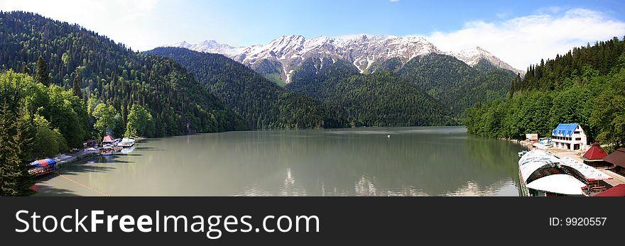 Lake Ritsa. Abhazia