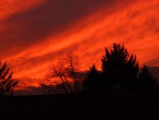 Free Sky, Red Sky At Morning, Afterglow, Nature Royalty Free Stock Image - 99218896