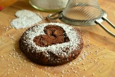 Free Powdered Sugar, Flourless Chocolate Cake, Baking, Chocolate Brownie Royalty Free Stock Photography - 99230987