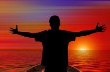 Free Silhouette, Sunrise, Sky, Sunset Stock Image - 99294351
