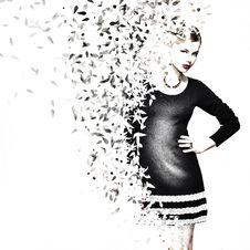 Free White, Black And White, Fashion Model, Beauty Stock Photography - 99298222