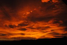 Free Sky, Red Sky At Morning, Afterglow, Dawn Royalty Free Stock Photography - 99298697
