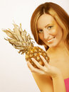Free Woman With Pineapple Stock Photo - 9933060