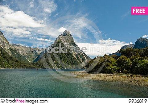 Mitre Peak Stock Photo
