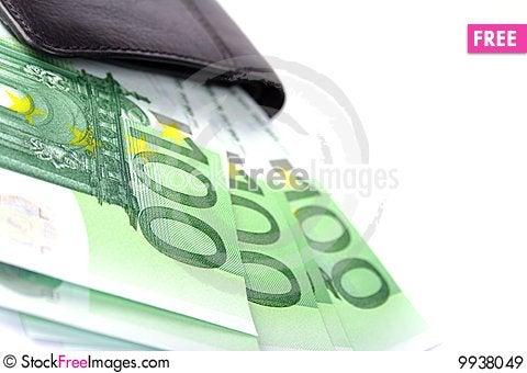 Euro and purse Stock Photo