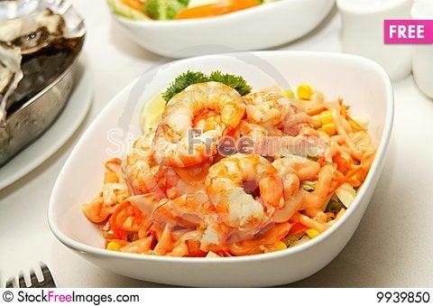 Tasty Caesar Salad Stock Photo
