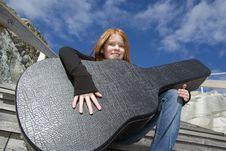 Free Tween With Guitar Stock Photos - 9931813