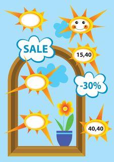 Free Sale-sun Royalty Free Stock Photos - 9932158