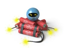 Bomb Collection - Push Here Royalty Free Stock Photo