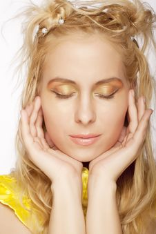 Free Portrait Of A Beautiful Blonde Girl Stock Photo - 9933100