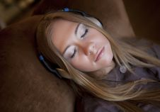 Free Girl Listening To The Music Stock Photo - 9933130