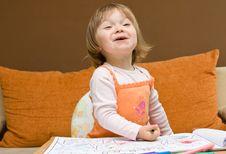 Free Baby Girl Drawing Royalty Free Stock Image - 9933146
