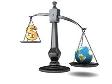 Earth And Money Royalty Free Stock Photography