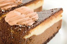 Free Double Chocolate Cheesecake Royalty Free Stock Photo - 9933575