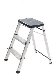 Free Three Stage Stepladder Isolated Stock Photo - 9933940