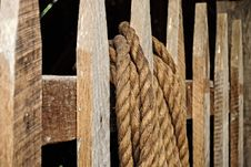 Free Rope On A Fence Royalty Free Stock Photography - 9934017