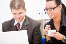 Free Business Man And Business Woman Stock Image - 9934051