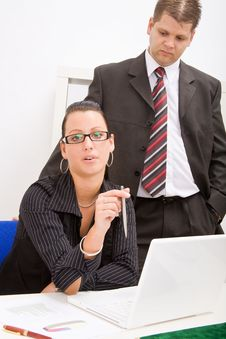 Free Business Man And Business Woman Stock Photos - 9934423