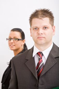 Free Business Man And Woman Stock Photo - 9935000