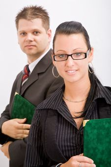 Free Business Man And Woman Royalty Free Stock Photography - 9935027