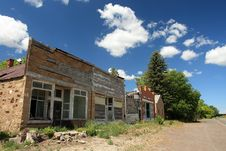 Free Derelict Old Storefronts Stock Photography - 9935132