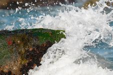 Free Wave Crashing Royalty Free Stock Image - 9935636