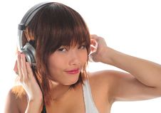 Free Young Asian Woman Listening Music Royalty Free Stock Image - 9936256