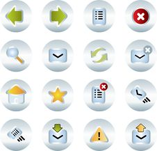 Free Vector Icons Set. Royalty Free Stock Image - 9936626