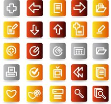 Free Vector Icons Set. Stock Images - 9936654