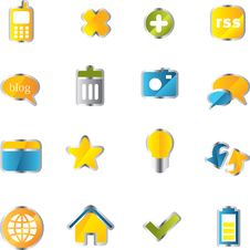Free Vector Icons Set. Royalty Free Stock Image - 9936656