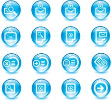 Free Vector Icons Set. Royalty Free Stock Images - 9936739