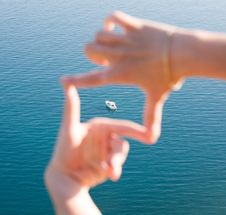 Free Ship In Blue Sea Royalty Free Stock Photo - 9937655