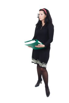 Lady With File Royalty Free Stock Photo
