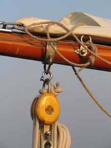 Detail Of Sailingboat Royalty Free Stock Images