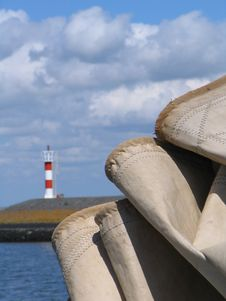 Free Canvas With Lighthouse Stock Images - 9939034