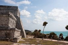 Free Tulum Ruins And White Beach In Mexico Royalty Free Stock Photo - 9939135