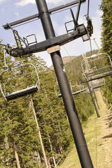 Free Ski Lift Royalty Free Stock Image - 9939276