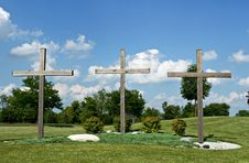Free Three Crosses Royalty Free Stock Image - 9939556