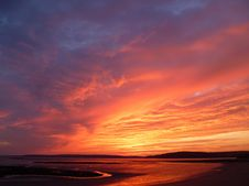 Free Sky, Afterglow, Horizon, Red Sky At Morning Stock Images - 99349634