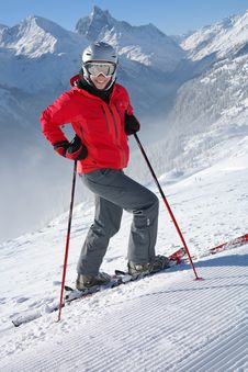 Free Ski Pole, Ski, Skiing, Mountain Range Royalty Free Stock Photo - 99371755