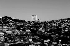 Free Aerial View Of Town In Black And White Stock Images - 99383404